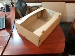 Яблочный гофролоток картонный