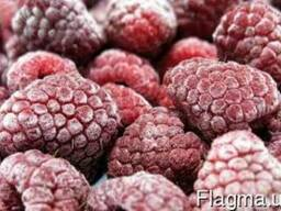 Ягоду малины замороженную на экспорт.