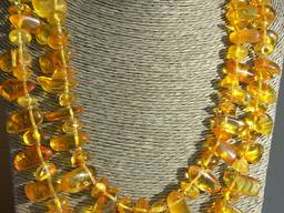 Янтарное ожерелье Капельки Сонлца