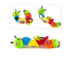 Яркая и красочная погремушка Joy Toy гусеница(9182/786)