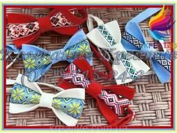 Яркие галстук-бабочки с Украинским орнаментом (под заказ от