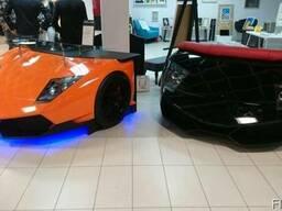 Стіл у вигляді суперкара Lamborghini яскраво-помаранчевий La