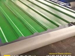 Ярко-зеленый металлопрофиль крыша / забор, RAL 6002 Словак