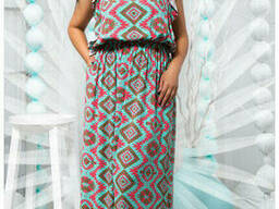 Яркое женское платье-сарафан в пол 50-54р , доставка по. ..