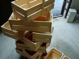 Корзина деревянная ящик с ручкой