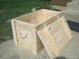 Ящик деревянный. Тара из дерева. Контейнер дереянный