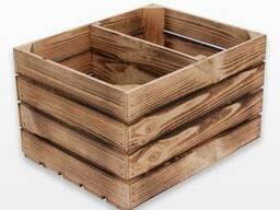 Ящик деревянный обожженный 50х40х30см