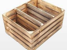 Ящик деревянный обожженный 60х50х30см