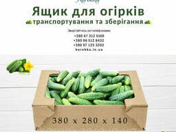 Ящик для огурцов из гофры, бурый 380х280х140 мм