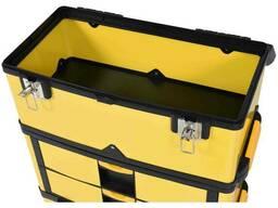Ящик для інструментів на 2 колесах пластиковий Vorel 3 секції 57 х 37 х 84.5 см з. ..