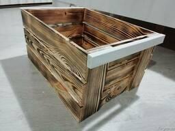 Ящик обожженный деревянный