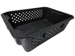 Ящик овощной перфорированный черный