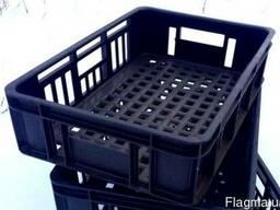 Ящик пластиковый перфор. черный 15 кг, 540×360×140