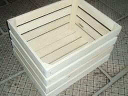 Ящик яблучный деревяный (кубик)
