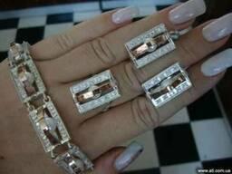 Ювелирные украшения из серебра с золотом