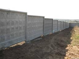 Забор бетонный П6ВА (4000х2550х160 мм) промышленный