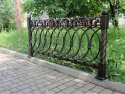 Забор чугунное огрождение 186х34х71х90 см