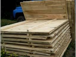 Забор деревянный/щит ограждения деревянный 2х2м.