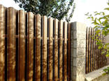 Забор евроштакетник под дерево - фото 4