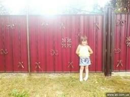Забор из профнастила Киев, решётки на окна Киев, ворота Киев