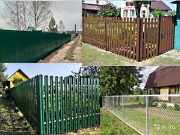 Забор из профнастила, рабицы, штакетника