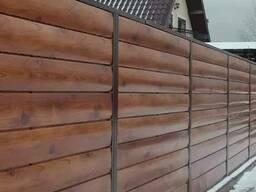 Забор металлический (Брус)