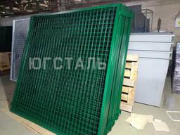 Забор (секции) из канилированной рифленой сетки