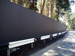 Забор шумозахисний з сендвіч-панелей