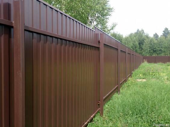 Забор ворота из профнастила сделаем или отремонтируем старый