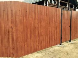 Забор, ворота, калитка, из профлиста, навес - фото 4