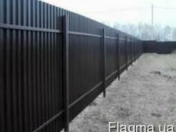 Забор ворота калитка из профлиста под ключ