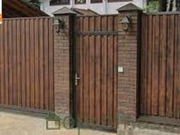 Калитка из профнастила. Купить ворота с калиткой из профнастила