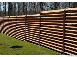 Забор Жалюзи деревянный под ключ