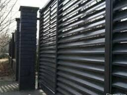 Забор жалюзи из металлического профиля