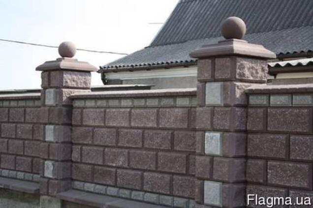 Заборные блоки крышки парапеты.