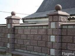 Заборные блоки крышки парапеты. - фото 1
