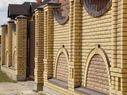 Заборы из кирпича, столбы, колонны, стены фасада из кирпича
