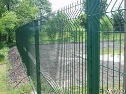 Монтаж Забор из сварной сетки Рубеж (3Д), Забор из сетки
