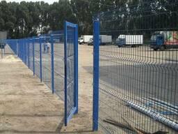 Панельные заборы из сварной сетки (3d забор).