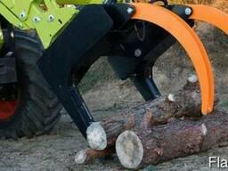 Захват для леса, бревен грейферный к фронтальному погрузчику