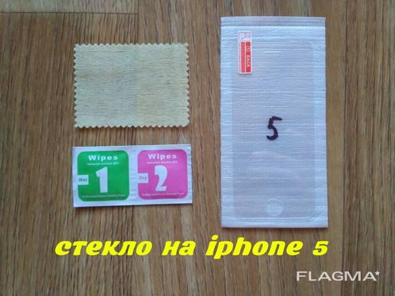 Закалённое стекло на iphone 5