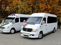 Заказать, арендовать микроавтобус, минивэн, на свадьбу