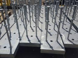 Закладная деталь, Закладные элементы в бетон, закладні деталі