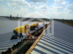 Замена перекрытие ремонт кровли крыш на складе ангаре