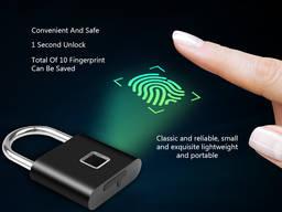 Замок биометрический умный с отпечатком пальца навесной элек