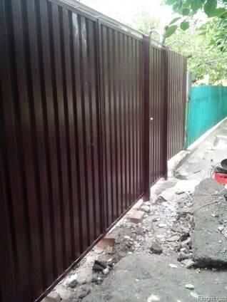 Делаем заборы ворота из профнастила профлиста в Донецке