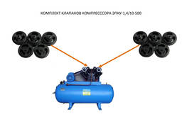 Комплект клапанов компрессора ЭПКУ (10 шт. )