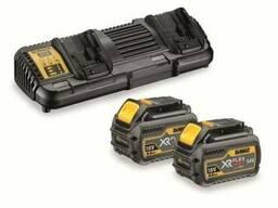 Зарядное устройство 2 аккумулятора xr flexvolt dewalt dcb1