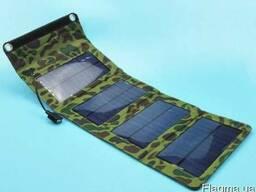 Зарядное устройство на солнечной панели 7W для моб. телефона