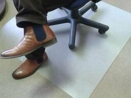 Защита пола. Защитный коврик под кресло